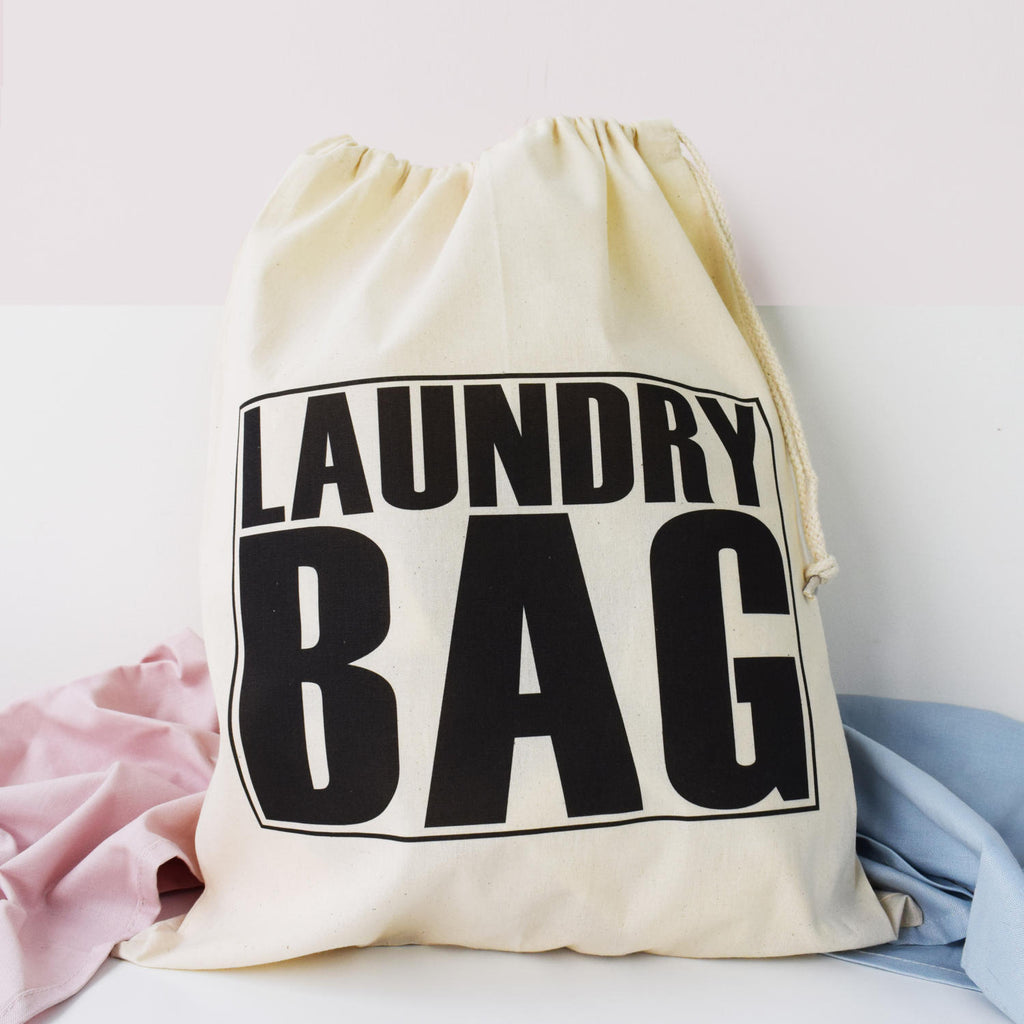 Big Text Laundry Bag