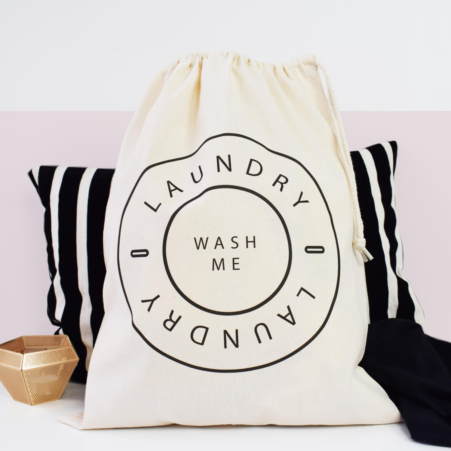 Home And Travel 'Wash Me' Natural Laundry Bag