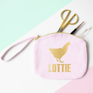 Personalised Hen Party Organic Canvas Cosmetics Pouch, Clutch bag