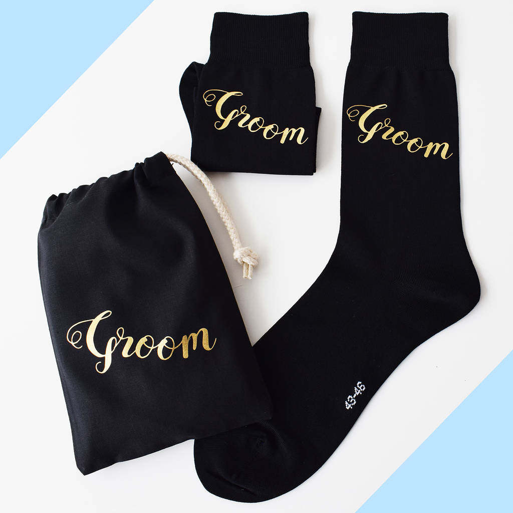 Groom, Wedding Day Gift Socks