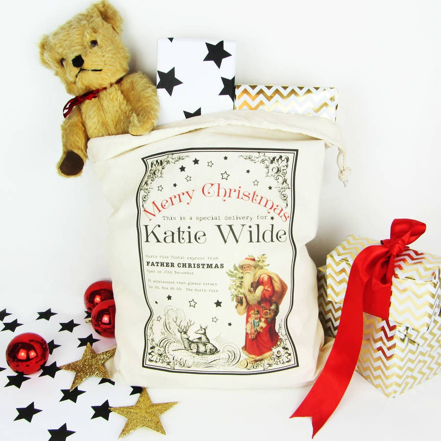 Father Christmas, Personalised Christmas Sack