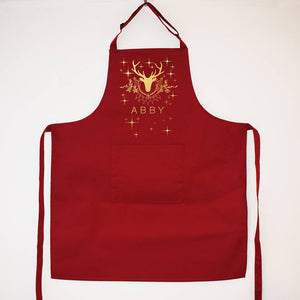 Personalised Stag Christmas Apron