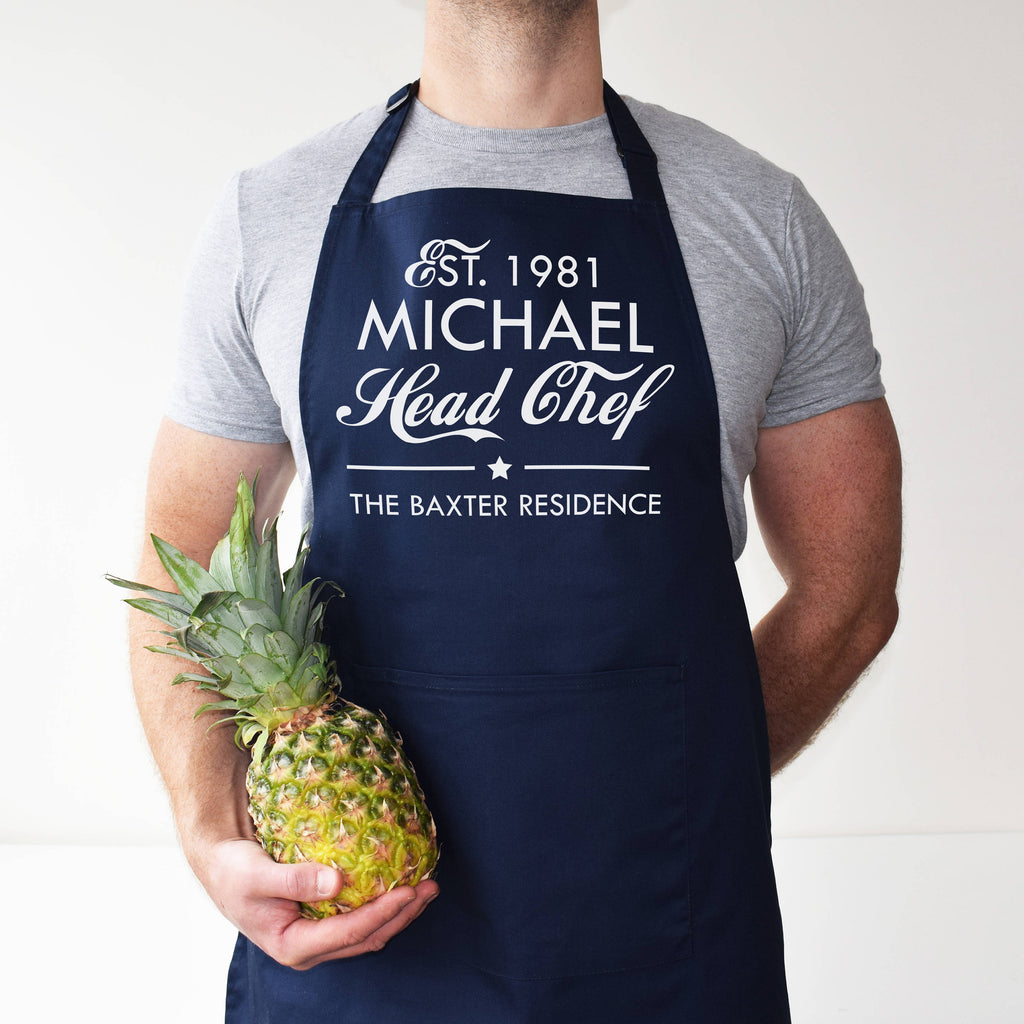 Personalised Head Chef/Sous-Chef Apron