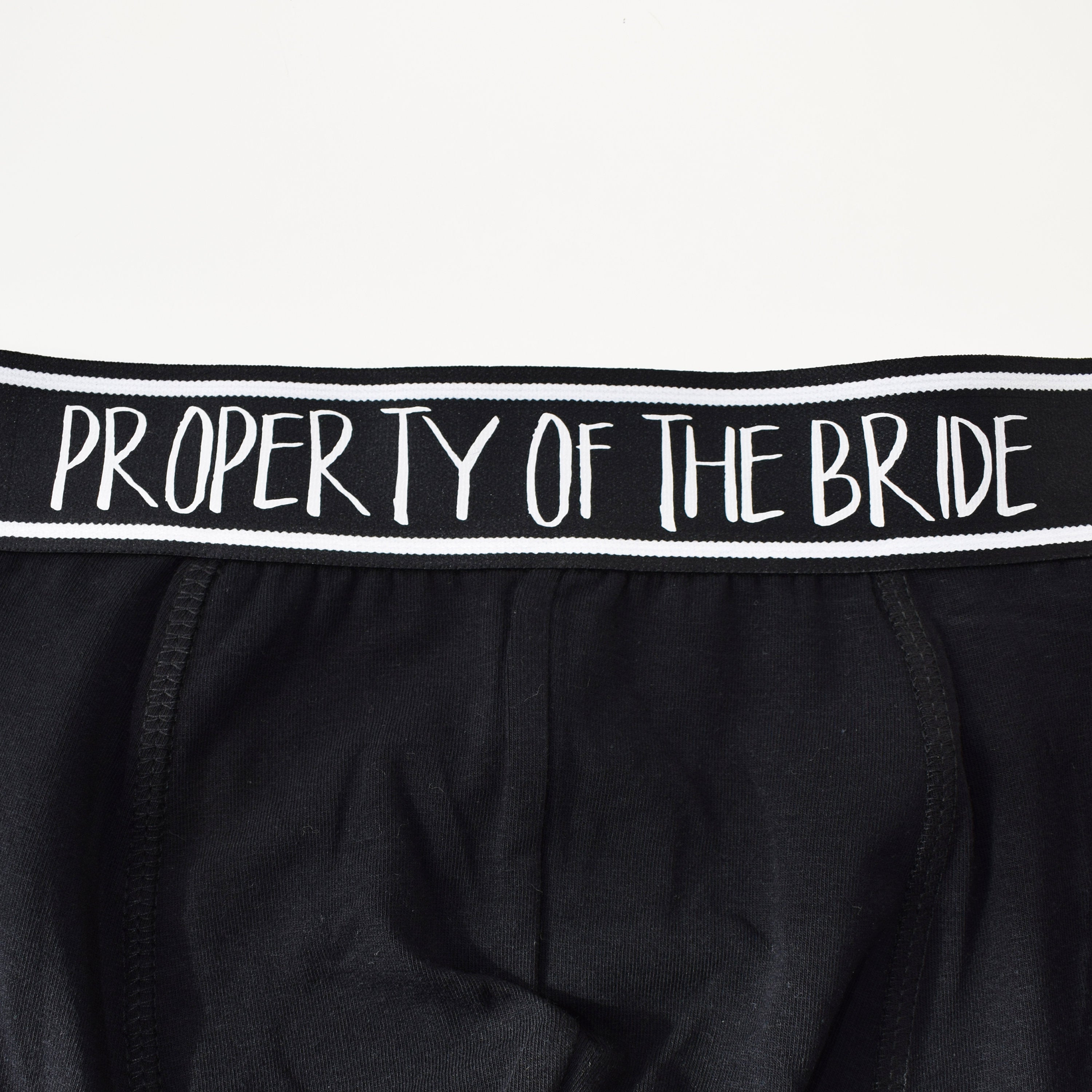 So You Don't Get Cold Feet,Property of the bride, Personalised Grooms Boxers Underwear Set