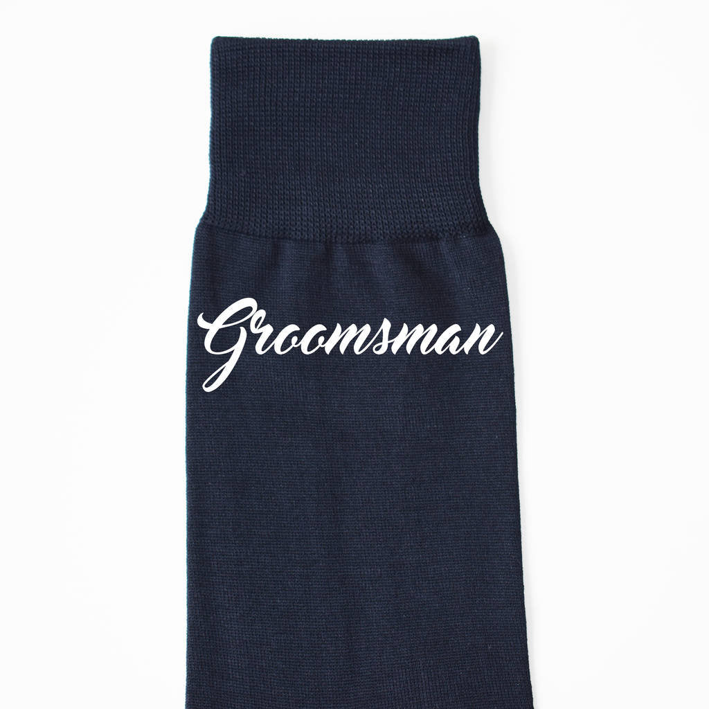 Groomsmen Wedding Party Personalised Socks
