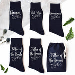 Ornate Scroll Groomsmen Wedding Socks