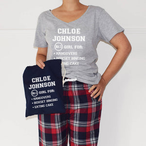 1e20a0c12d Personalised No.One Girl Ladies Pyjamas Gift Set