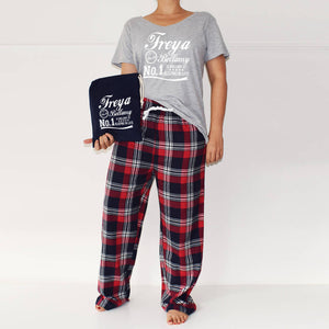 Personalised 'Is Brilliant At' Ladies Pyjamas, PJ Set