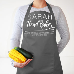 Personalised Head Baker Apron