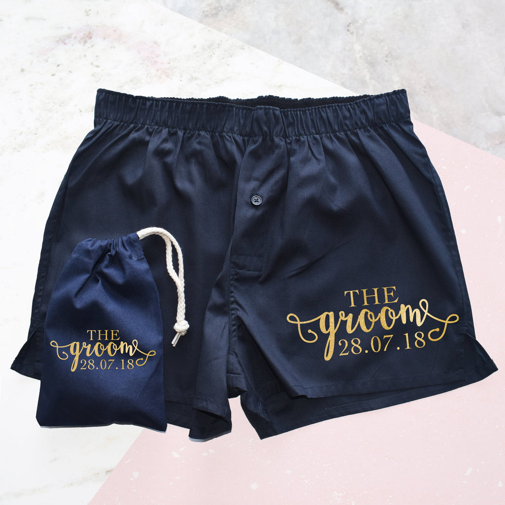The Groom, Personalised Wedding Boxer Shorts