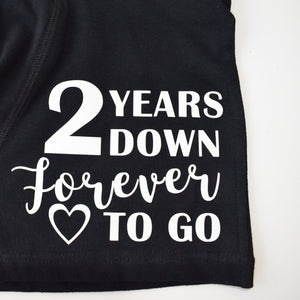 Personalised Wedding Anniversary Mens Boxers