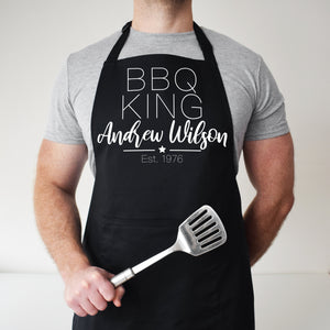 Personalised Barbecue King Apron