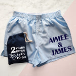 Personalised Cotton Wedding Anniversary Mens Boxer Shorts