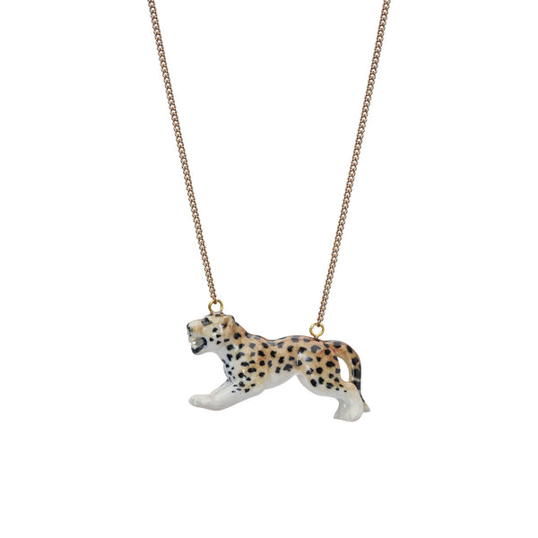 Perfectly Imperfect Leaping Leopard Necklace Was £35