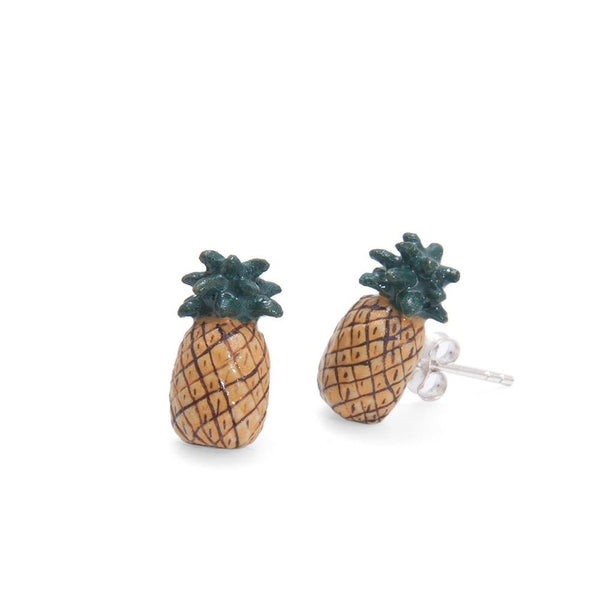 Perfectly Imperfect Natural Pineapple Studs Was £35