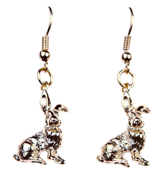 Sitting Hare Earrings, was £15