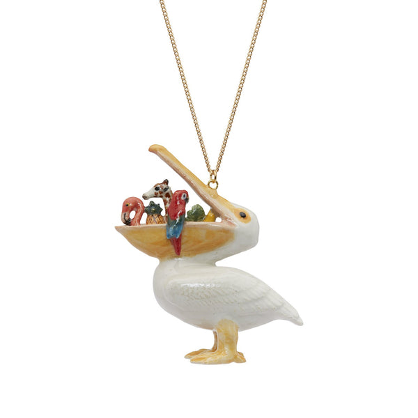Perfectly Imperfect Large Hungry Pelican Necklace Was £60