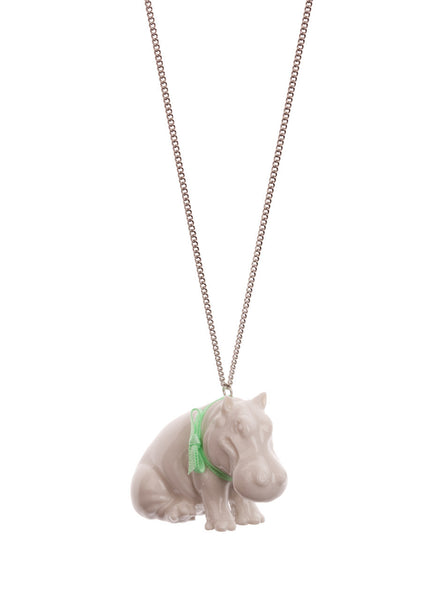 Small White Hippo Necklace, was £24