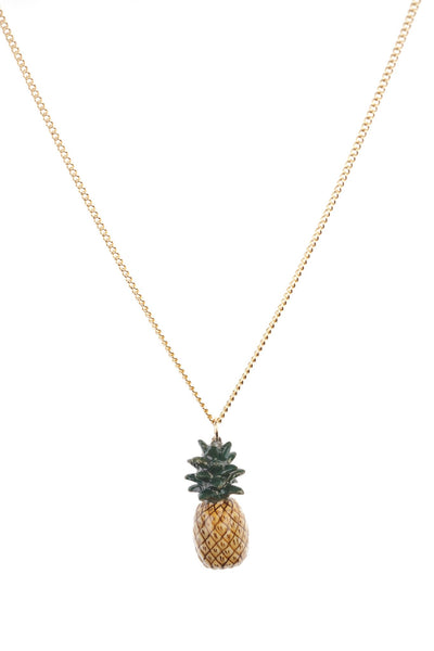 Perfectly Imperfect Small Natural Pineapple Necklace Was £30