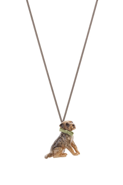Large Border Terrier Necklace, was £27
