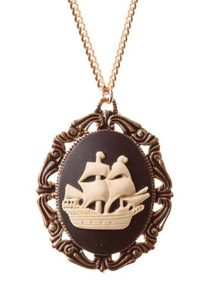 Ship Cameo Necklace, was £18