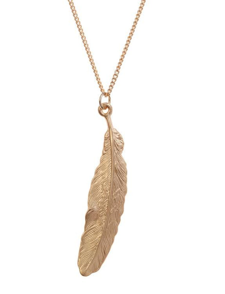 Matte Feather Necklace Was £15