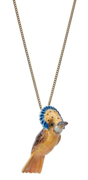 Yellow Carnival Bird Necklace, was £30