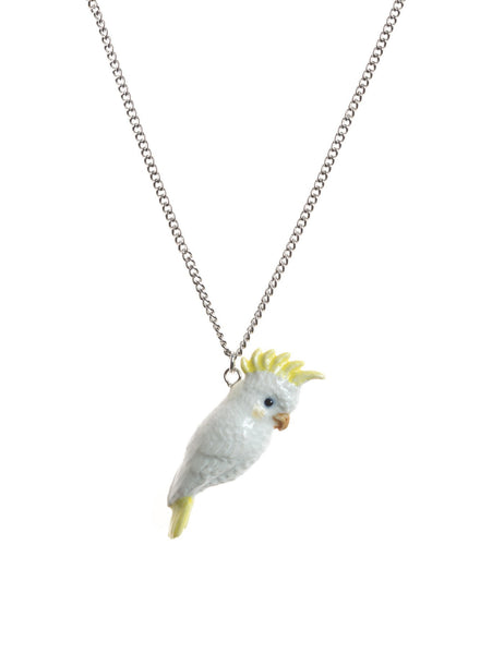 Perfectly Imperfect White Cockatoo Necklace Was £30