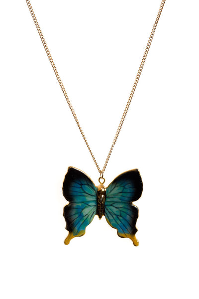 Perfectly Imperfect Butterfly Necklace With Gold Detailing Was £35