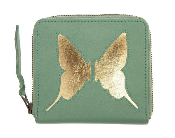 Mint Leather Butterfly Cut Out Purse, was £45