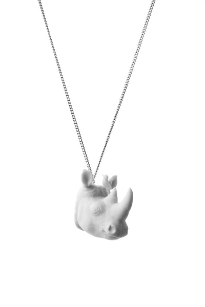 White Rhino Head Necklace, was £27