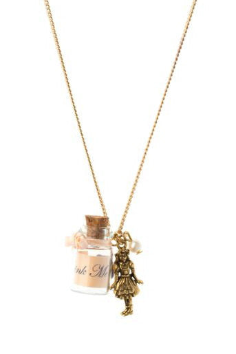 """Drink Me"" Charm Necklace, was £18"