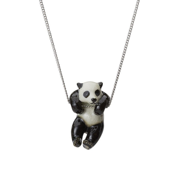 Perfectly Imperfect Hanging Panda Necklace Was £35