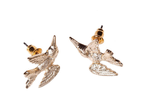 Gold Humming Bird Earrings, was £14