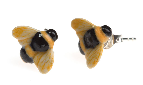 Perfectly Imperfect Bee Stud Earrings, was £35