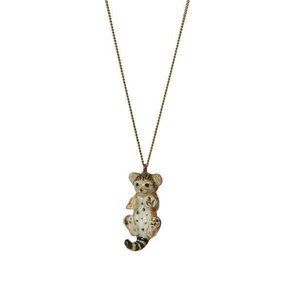 Perfectly Imperfect Tippu the Bengal Kitten Necklace - was £30