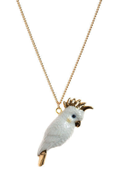 Perfectly Imperfect White & Gold Cockatoo Necklace Was £35