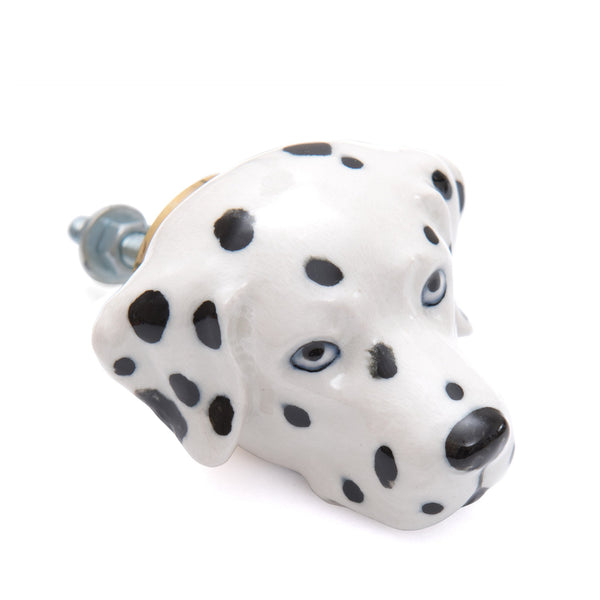 Perfectly Imperfect Dalmatian Doorknob Was £25