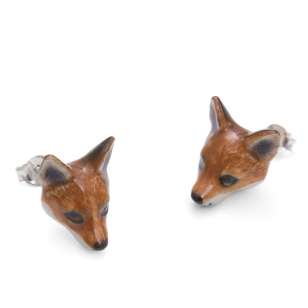 Perfectly Imperfect Fox stud Earrings Was £35