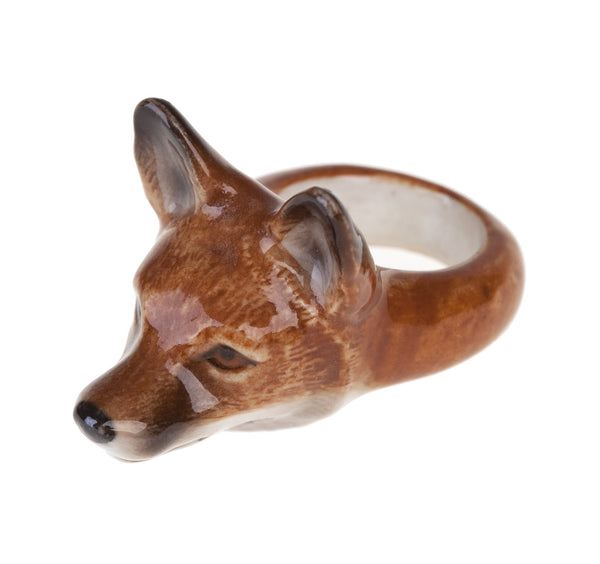 Perfectly Imperfect Fox Head Ring Was £35