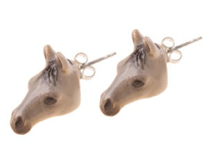 Grey Horse Head Stud Earrings, was £25