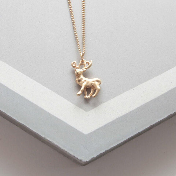 Small Gold Stag necklace Was £13.50
