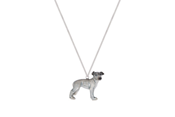 Oscar the Blue Whippet Puppy Necklace, Was £30