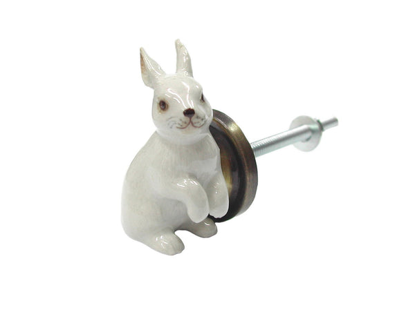 Lucky White Rabbit Doorknob, Was £20