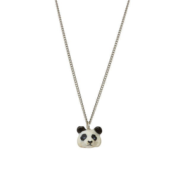 Perfectly Imperfect Tiny Panda Head Necklace Was £25