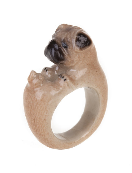 Perfectly Imperfect Pug Ring Was £35