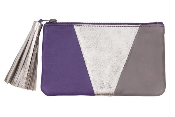 Soft Panel Leather Panel Tassel Coin Purse, was £30