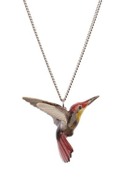 Perfectly Imperfect Red Hummingbird Necklace Was £35
