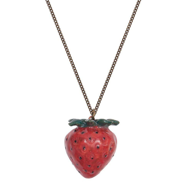 Perfectly Imperfect Natural Strawberry Necklace Was £30
