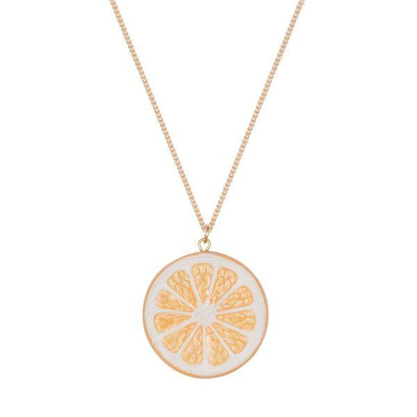 Lemon Citrus Slice Necklace, was £30